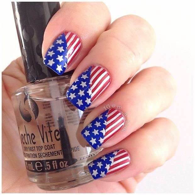 fourth of july nails 13