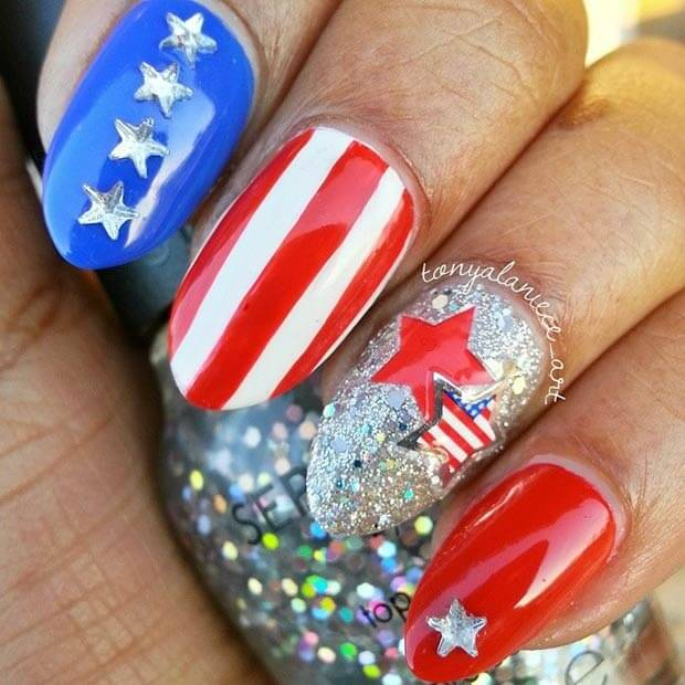 fourth of july nails 18