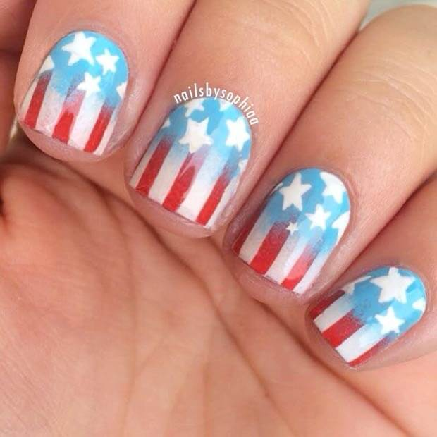 fourth of july nails 2