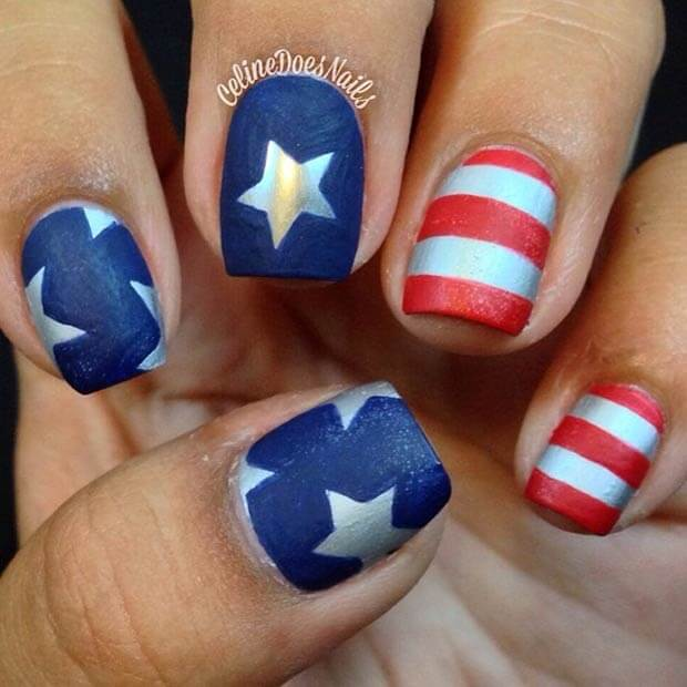 fourth of july nails 3
