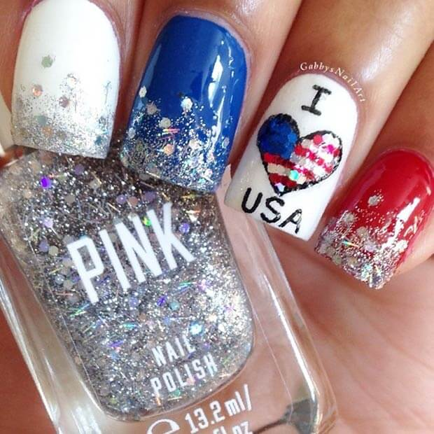 fourth of july nails 5