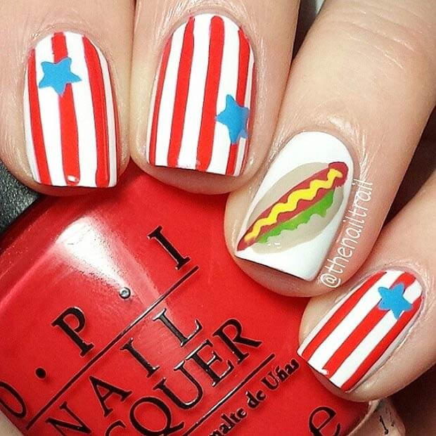 fourth of july nails 6