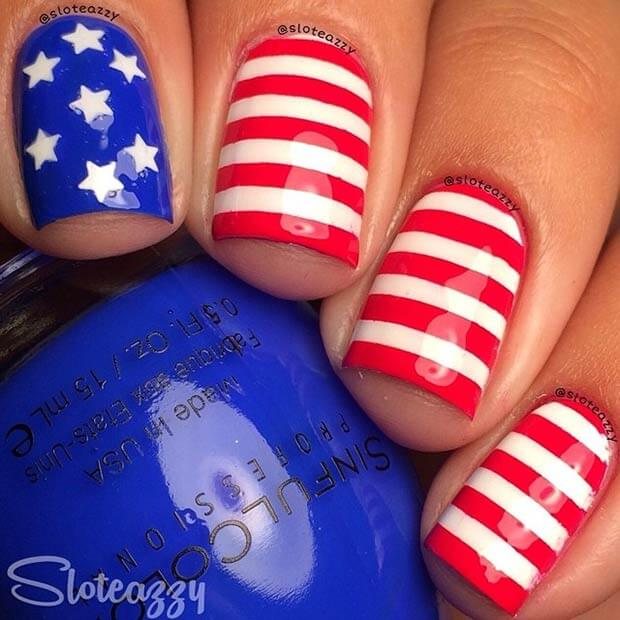 fourth of july nails 7