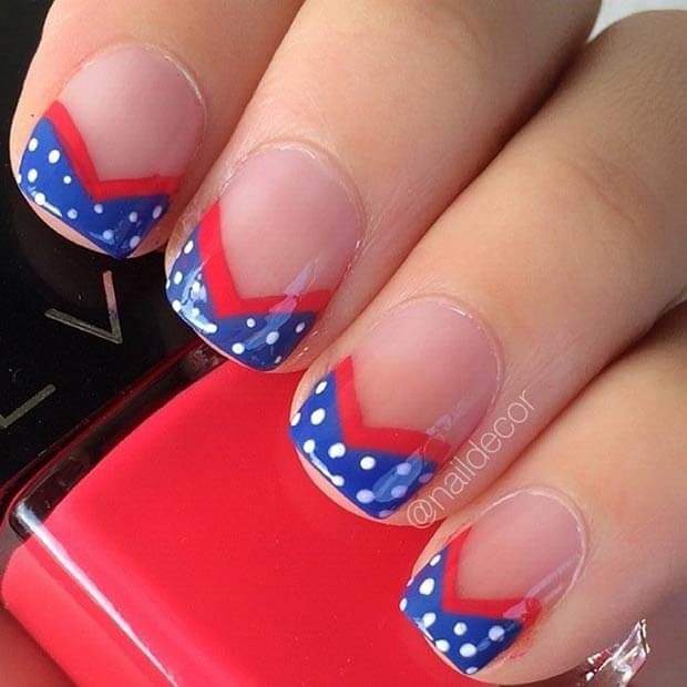 May The Fourth Be With You French: 22 Patriotic Fourth Of July Nails You'll Want To Rock This