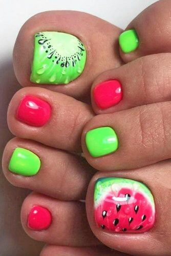 Summer toe nail designs youll fall in love with fruit toe nail design prinsesfo Images