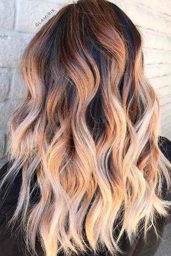 ombre long layers