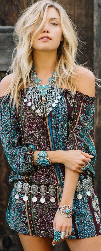 paisley boho dress