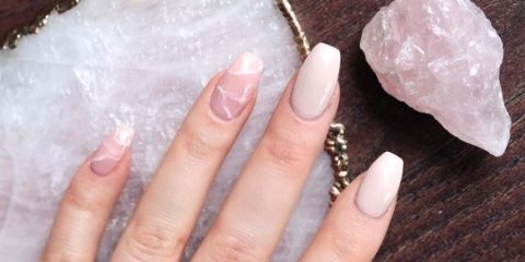 rose quartz nails 4