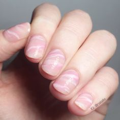 Hot Nail Art Trend Rose Quartz Nails Diy Tutorial