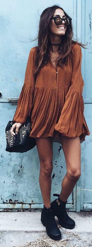 short boho dress