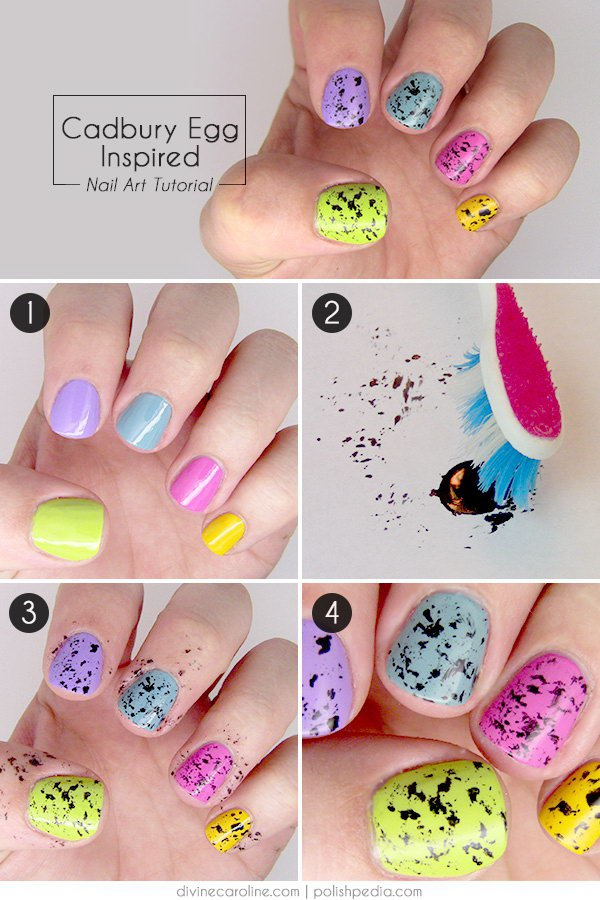 spackled nail tutorial