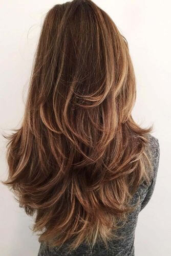 u shaped cut with classic layers