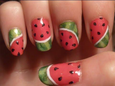 watermelon nail design 10