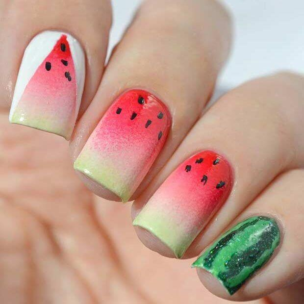 Watermelon nail designs watermelon nail design 11 prinsesfo Gallery