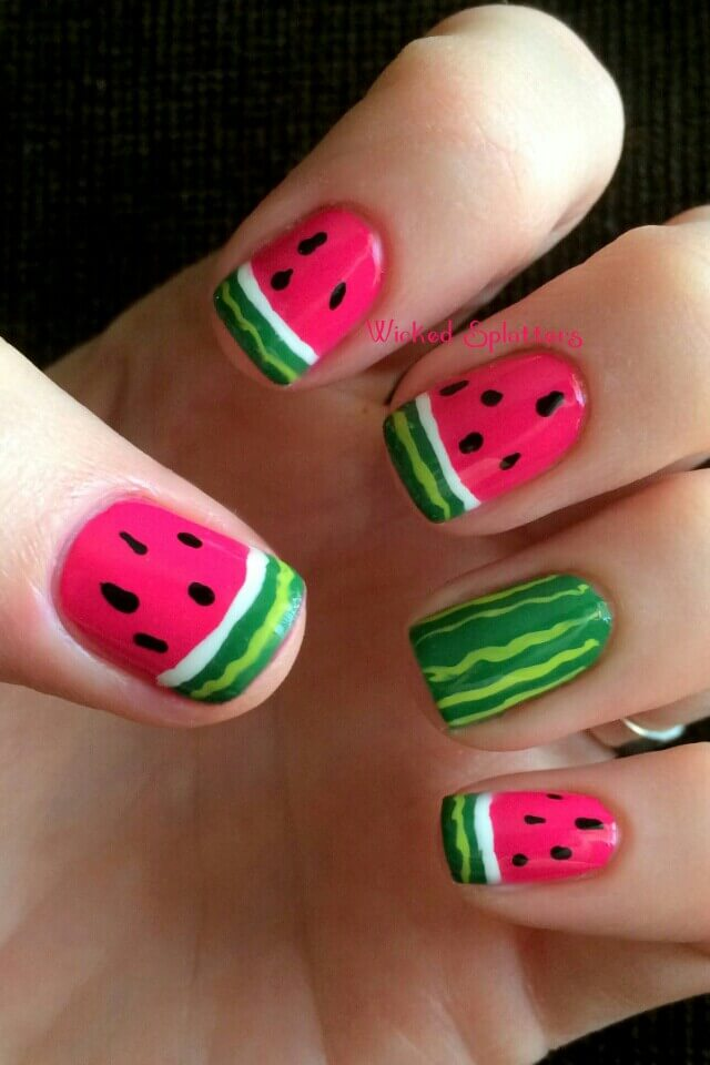 watermelon nail design 13
