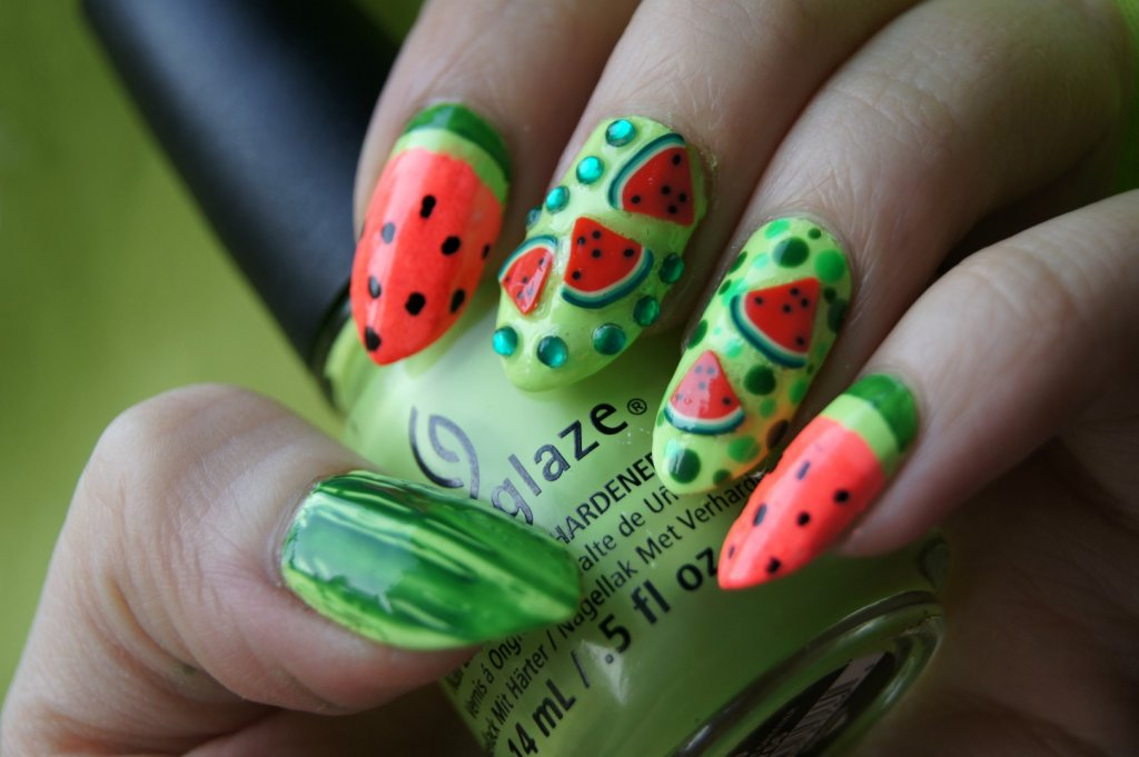 Watermelon Nail Designs