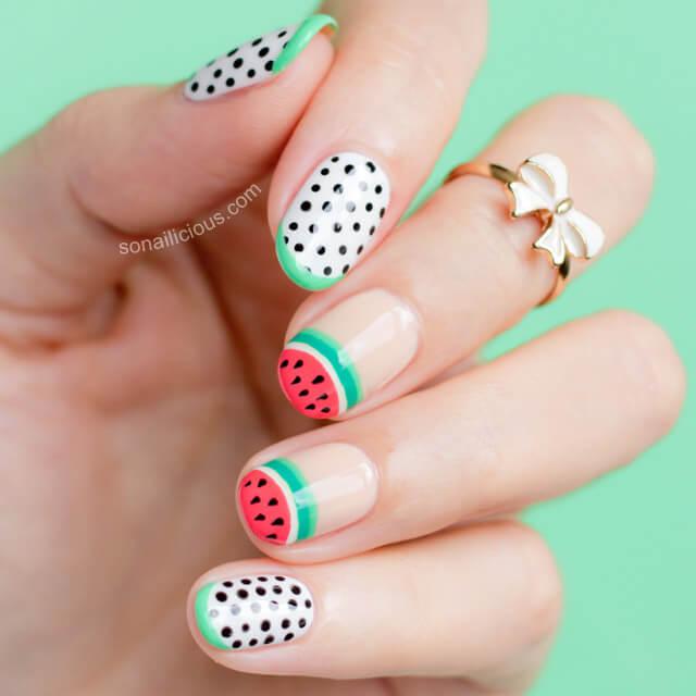 watermelon nail design 15