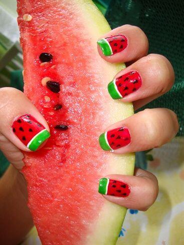 watermelon nail design 16