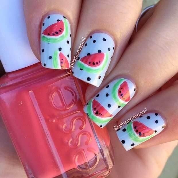 watermelon nail design 17