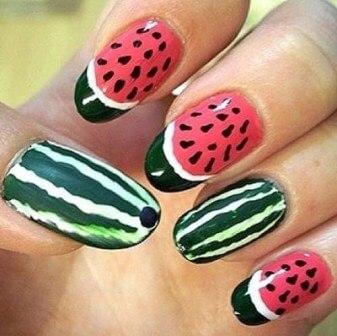 watermelon nail design 3