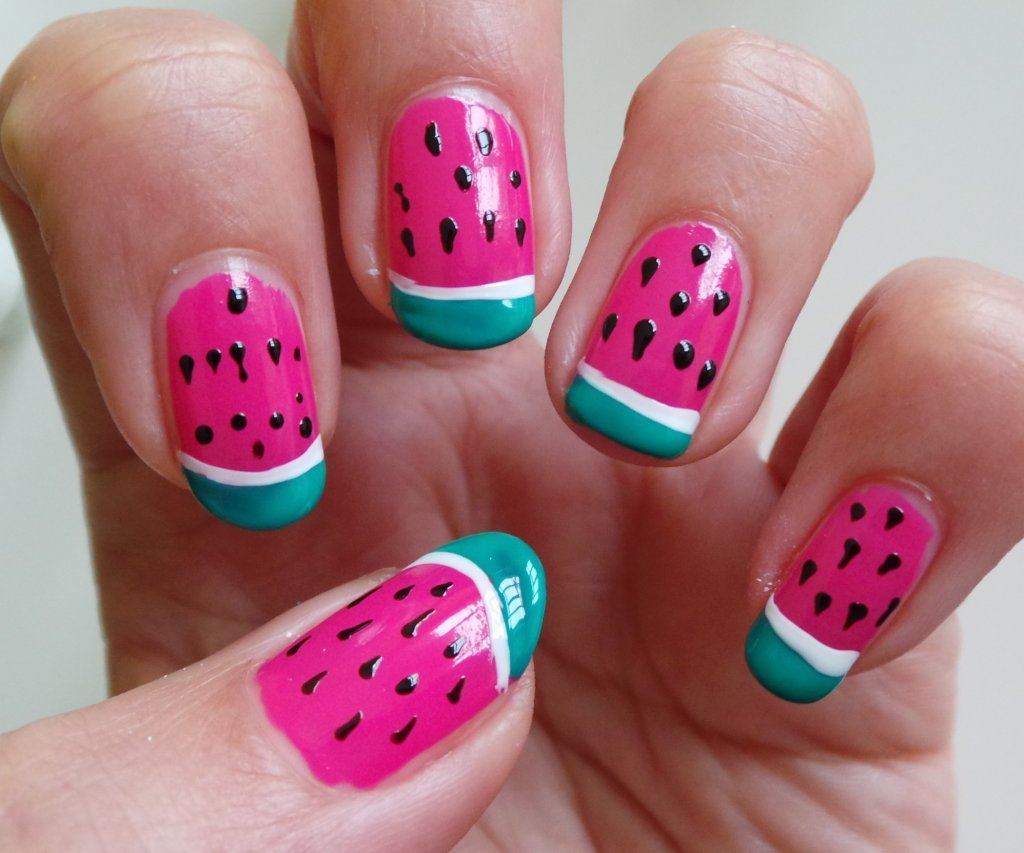 Watermelon nail designs watermelon nail design 4 prinsesfo Gallery