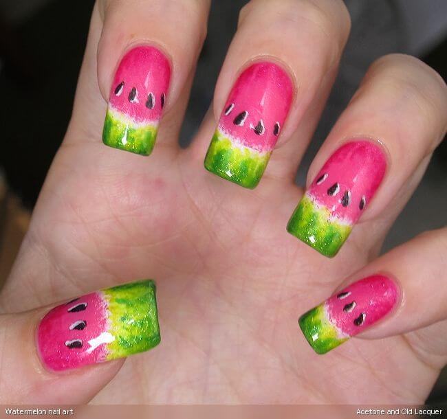 Watermelon nail designs watermelon nail design 6 prinsesfo Gallery