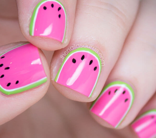 watermelon nail design 7