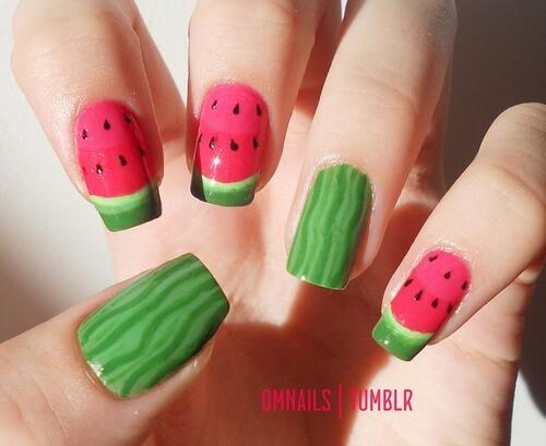 watermelon nail design 8