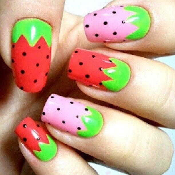 watermelon nail design 9