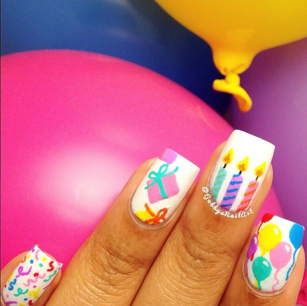 balloon nail design