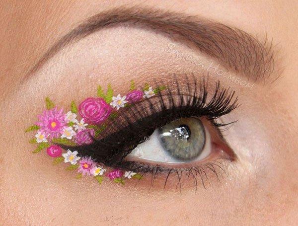 floral eye makeup2