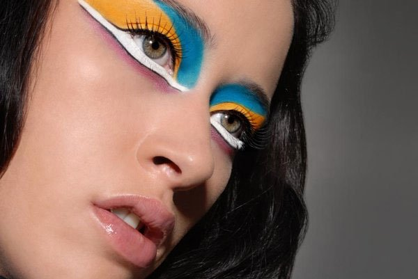 futuristic eye makeup