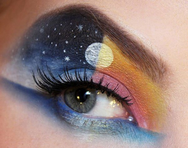 half moon eye makeup