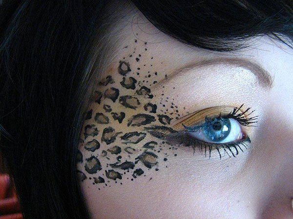 leopard eye makeup