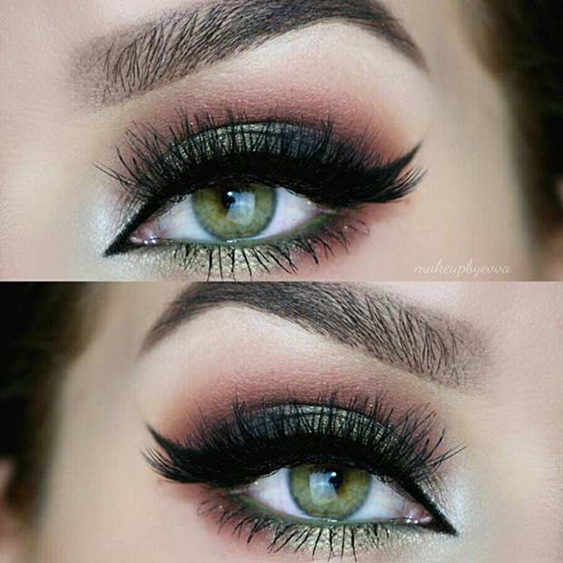 makeup for green eyes 18