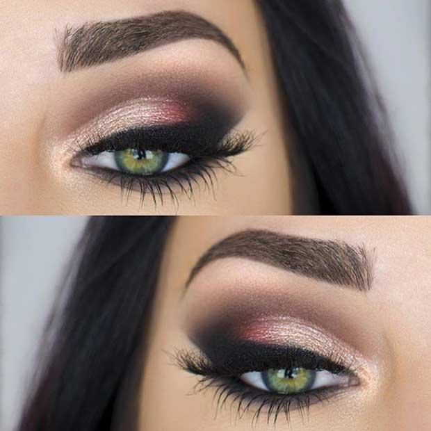 makeup for green eyes 19