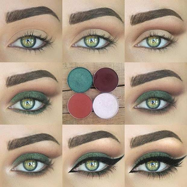 makeup for green eyes 23