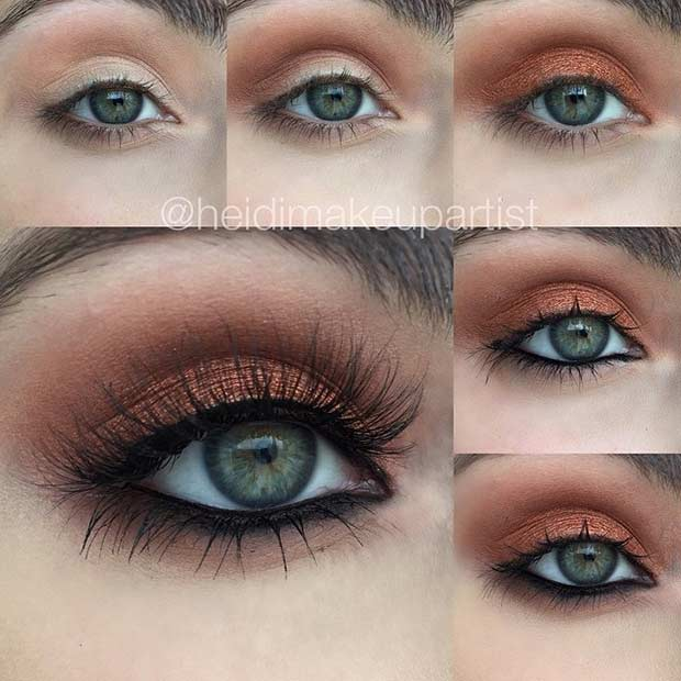makeup for green eyes 24