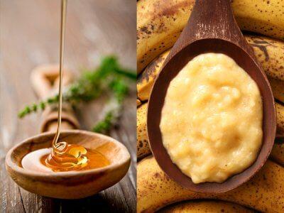 mashed banana and honey