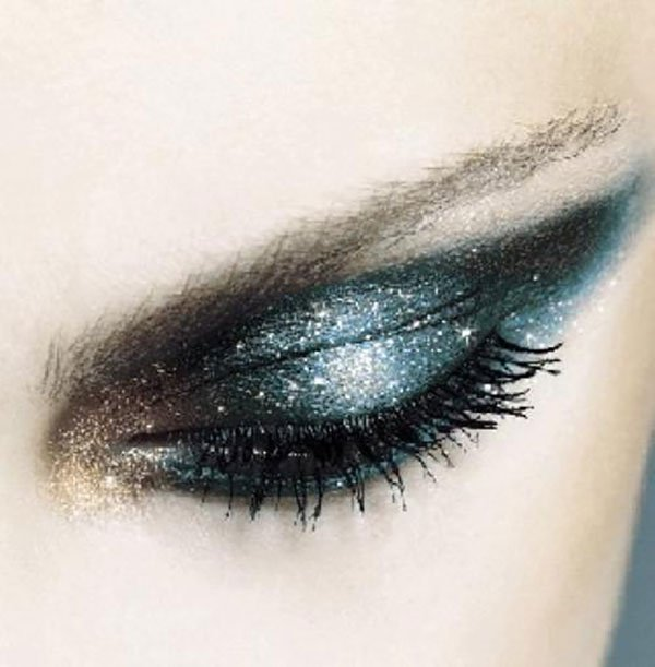 midnight glitter eye makeup