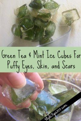 DIY Green Tea Mint Ice Cubes