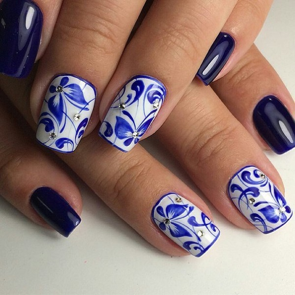 nautical nail design 12