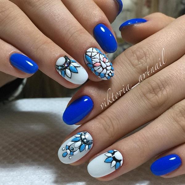 nautical nail design 14