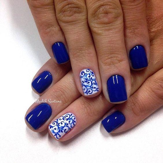nautical nail design 21