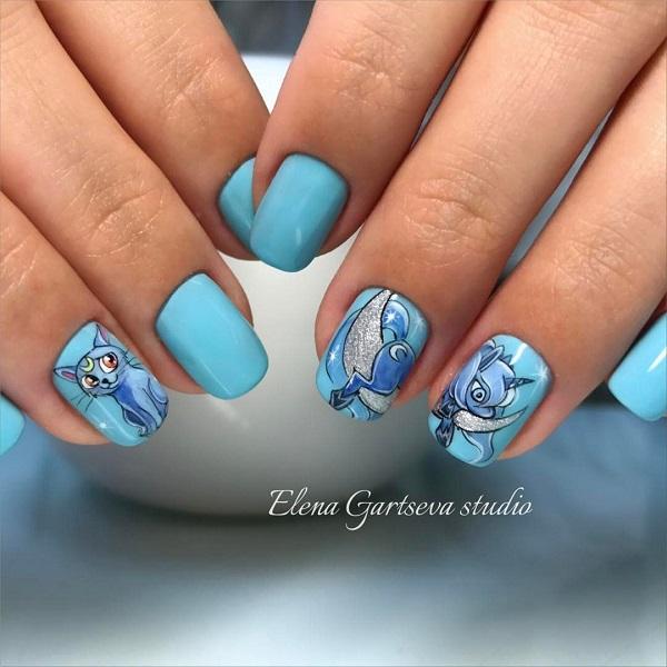 nautical nail design 23