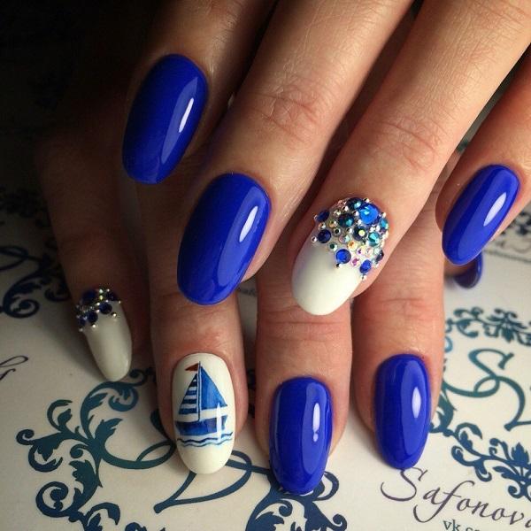 nautical nail design 29