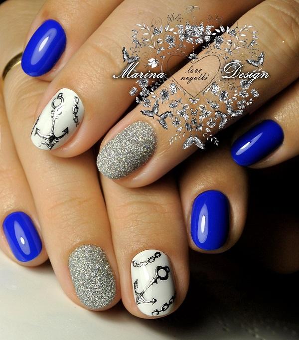nautical nail design 30
