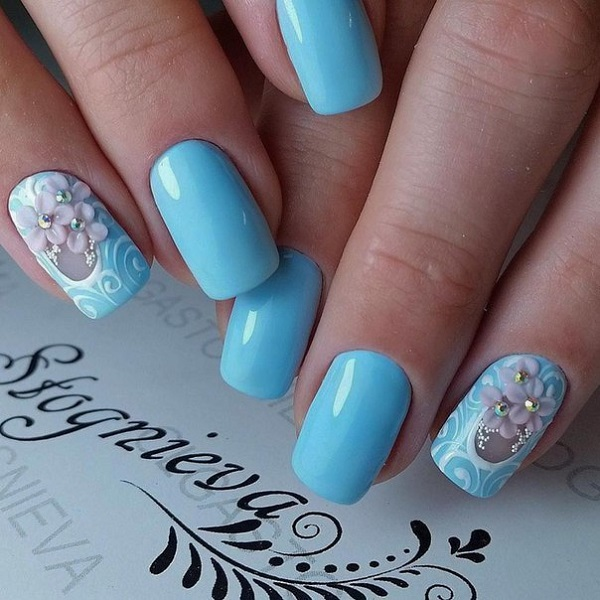 Nail Art Of Blue Colour: Nautical Nail Designs To Wear This Summer