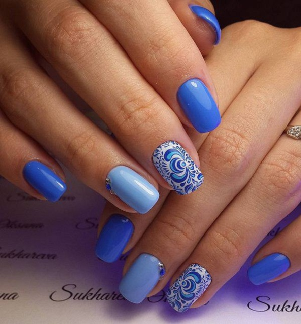 nautical nail design 6