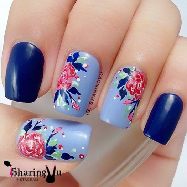 nautical nail design 9